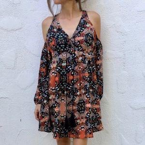 (Romeo & Juliet Couture) Laced Cold Shoulder Dress
